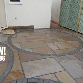 circle styled patio